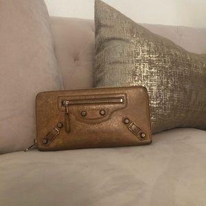 Balenciaga Agneau Continental ZIP Around Wallet